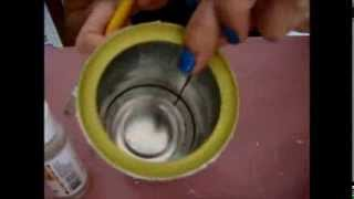 getlinkyoutube.com-Découpage sobre textura (em lata) - Artes Manuais by Kellen