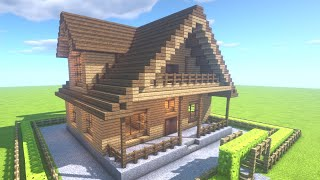 "getlinkyoutube.com-マインクラフト 家の作りかた ""簡単に大きい家を作ろう!"