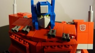 Optimus Prime , A G1 Lego Transformers Creation by BWTMT Brickworks