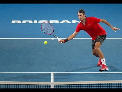 R Federer (SUI) vs J Duckworth (AUS) Highlights 2015 Brisbane International
