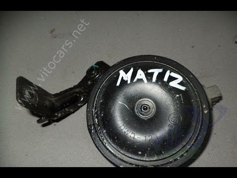 Пропал звуковой сигнал на Matize
