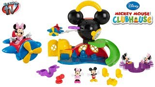 getlinkyoutube.com-MICKEY MOUSE CLUBHOUSE TOYS Fly n Slide Playset Fisher-Price Toy Review Family Video