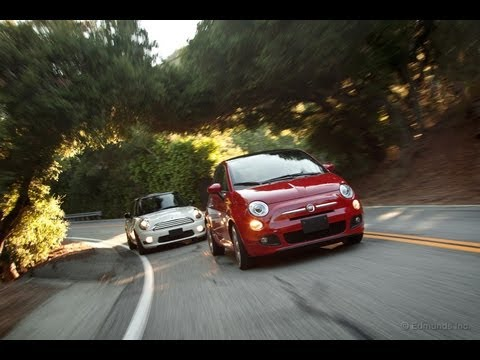 2012 Fiat 500 vs. 2011 Mini Cooper Comparison Test Video