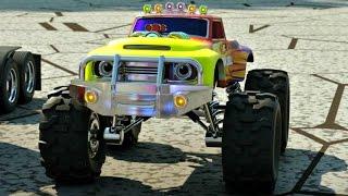 getlinkyoutube.com-Мультфильм про машинки и паровозики. Парк аттракционов.