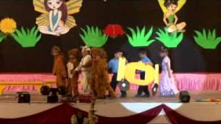 """getlinkyoutube.com-LKG students of BHS ONGC presenting a drama on the story - """"Cinderella"""" on Annual Concert."""