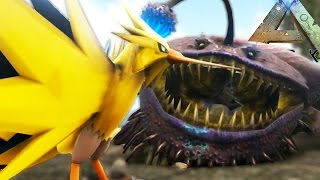 getlinkyoutube.com-Ark Survival Evolved - EPIC MONSTER VS LEGENDARY POKEMON BATTLES!! - Ark Survival Modded Gameplay