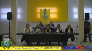 Consiglio Comunale Cariati 11 ottobre 2018   PARTE1