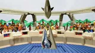getlinkyoutube.com-LEGO Jurassic World attractions