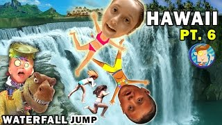 getlinkyoutube.com-WATERFALL JUMPING KIDS! Epic Hiking Adventure @ Twin Falls Hawaii (FUNnel Vision Trip - Maui Part 6)