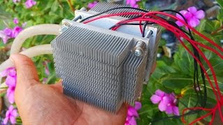 getlinkyoutube.com-Experiment Thermoelectric air cooler water. peltier cooler. Peltier Thermoelectric Cooler Modules.