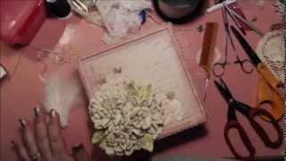 getlinkyoutube.com-Shabby Chic Flower Tutorial with Decorative Box