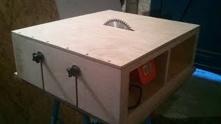Homemade Table Saw - Part 1 - DIY Motor Mount & Adjustable Bed