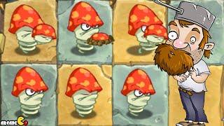 getlinkyoutube.com-Plants Vs Zombies 2 Online: NEW Update Digest Mushrooms Vs Lawn Mower Zombies!