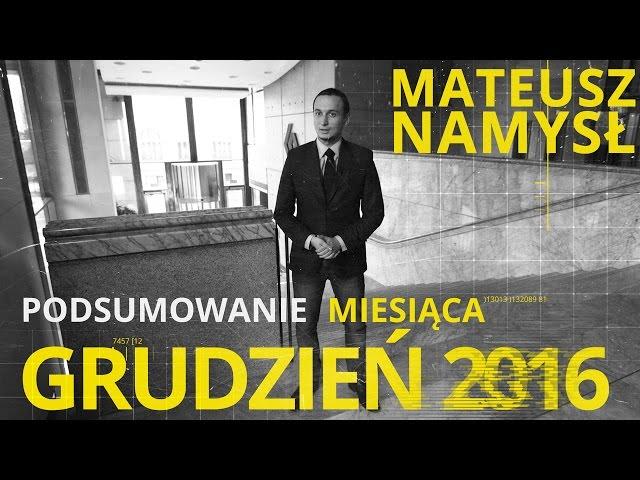 Mateusz Namysł, #10 PODSUMOWANIE MIESIĄCA (13.01.2017)
