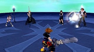 getlinkyoutube.com-Kingdom Hearts 2: Cloud, Squall, Tifa, Yuffie Boss Fight (PS3 1080p)