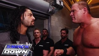 getlinkyoutube.com-Kane kicks Roman Reigns off SmackDown: SmackDown, June 25, 2015