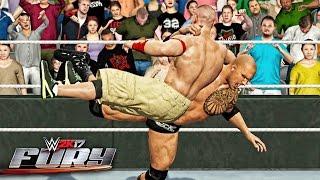 getlinkyoutube.com-WWE 2K17 Fury - The Rock Bottom Outta Nowhere!