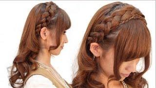 編み込みカチューシャふわくしゅ巻き 【English subs】 山下 珠美 hairarange tutorial