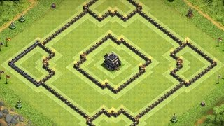 getlinkyoutube.com-Th9 defense base anti 2 stars + replays | Th9 hybrid base | Diseño de aldea | Clash of clans