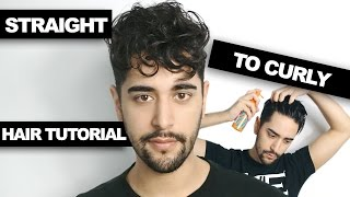 getlinkyoutube.com-Straight To Curly Hair - How To Get Curly Hair (Men's Hair Tutorial)  ✖ James Welsh