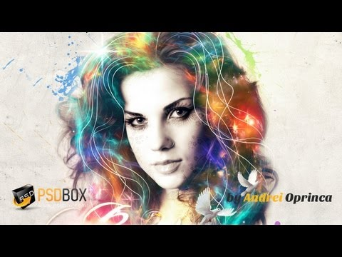 Portrait Effect in Photoshop (PSD Box)