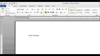 Hindi Microsoft Word pt 1 (Enter, Edit, Backspace, Save, Print)