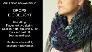 getlinkyoutube.com-DROPS Knitting  Tutorial: How to finger and arm knit a neckwarmer