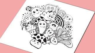 getlinkyoutube.com-Doodle Art !!   Learn doodling