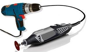 getlinkyoutube.com-Как сделать бор машину из шуруповерта / How to Make a Dremel Tool of the Screwdriver