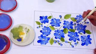 getlinkyoutube.com-Pintura em tela - Iniciantes - Aula 3 - Flores espontâneas