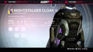 getlinkyoutube.com-Taken King Exotic Hunter Cloak! Nightstalker Cloak!