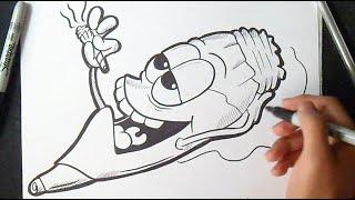 getlinkyoutube.com-Graffiti Boceto: Cómo dibujar un Porro | How to Draw character cigar