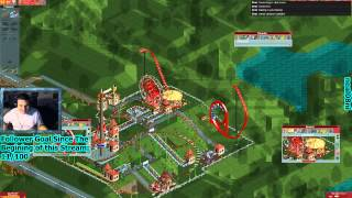 getlinkyoutube.com-Open RCT2: Shuttle Roller Coaster and Merry-Go-Round Goes on Crack