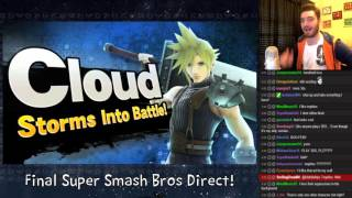 getlinkyoutube.com-Final Super Smash Bros Direct Live Reactions BAYONETTA!?!?