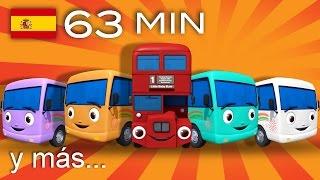 getlinkyoutube.com-Diez autobuses | Y muchas más canciones infantiles | ¡63 min de LittleBabyBum!