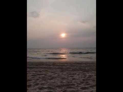 sunset  view from north Goa beaches ASIA