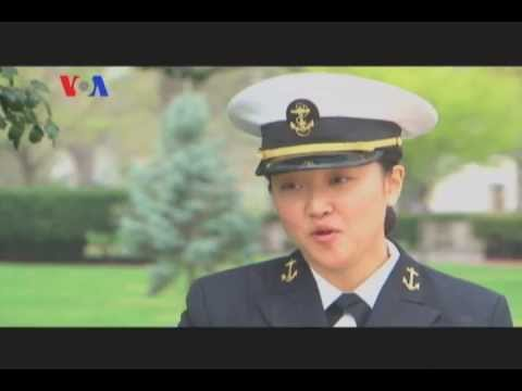 Interview with Midshipman First class Katey Foran - Sarah Zaman - Urdu VOA
