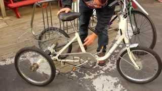 getlinkyoutube.com-Folding Adult Trike - 1970s Vista 3-Wheel Bicycle - NIDA - BikemanforU Bike Check