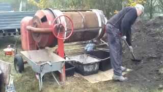 Przesiewacz z betoniarki