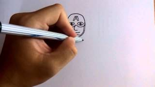 getlinkyoutube.com-วาดการ์ตูนกันเถอะ สอนวาดการ์ตูน กัปตันอเมริกา ง่ายๆ หัดวาดตามได้