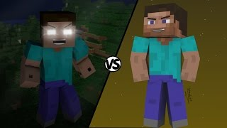 getlinkyoutube.com-Steve VS Herobrine | Batallas Épicas