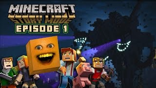 getlinkyoutube.com-Annoying Orange - MINECRAFT STORY MODE: Episode 1 Complete!