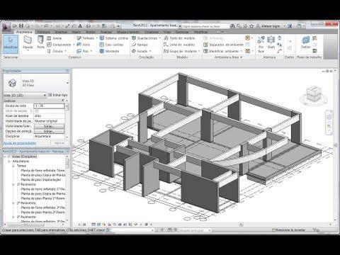 Revit 2013 Aula 17: Ajustando os níveis de pilares, vigas e paredes | criando vigas curvas