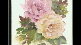 "getlinkyoutube.com-The Beauty of Oil Painting, Series 1, Episode 8 ""Pink and Yellow Roses"""