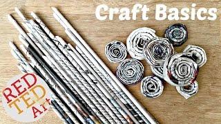 getlinkyoutube.com-DIY Newspaper Rolls & Coils - Craft Basics
