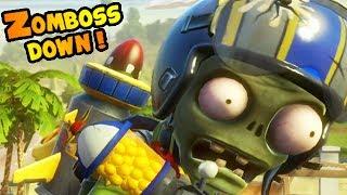 getlinkyoutube.com-Plants vs. Zombies: Garden Warfare - Zomboss Down! Sky Trooper Golf DOMINATION!