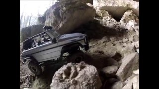 getlinkyoutube.com-RC Aventure Mercedes Class-G 4x4 Rock crawling Test