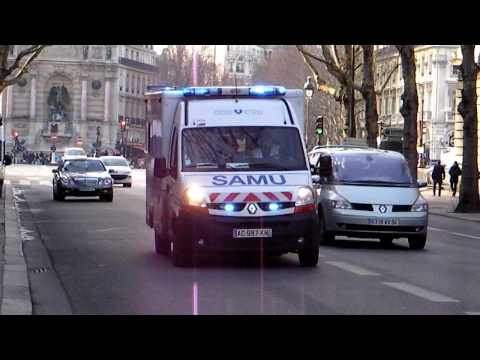 Paris Ambulance Responding to Emergency