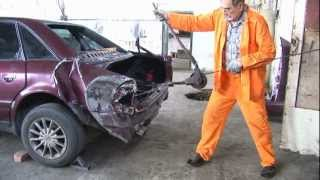 getlinkyoutube.com-Ремонт АУДИ после ДТП часть 1. Audi repair after an accident Part 1