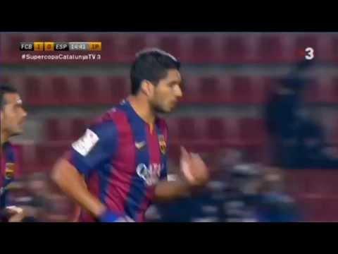 Luis Suarez wonder assist | FC Barcelona 1 - 0 Español Copa Catalunya